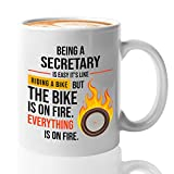 ❤️ ARE YOU THE HARD-WORKING SECRETARY? - Being a secretary is not a walk in the park! This secretary gift mug is perfect to energize your day in the office! ☕ EXCLUSIVE DESIGN SECRETARY GIFTS MUG FOR YOUR CAFFEINE INTAKE - There's no better combinati...