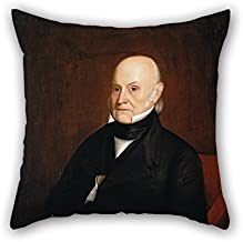 christmas-gift Throw Pillow Covers of Oil Painting William Hudson, Jr. - John Quincy Adams 20 X 20 Inches / 50 by 50 cm Best Fit for Relatives Dining Room Family Bf Adults Family Double Sides