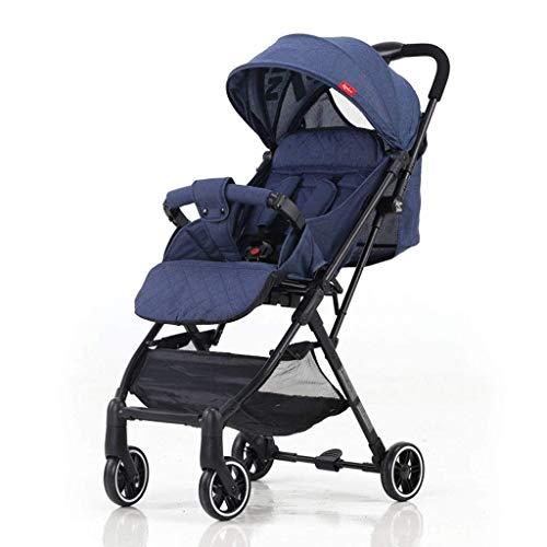 MNBV Cochecito para niños - Cochecito Plegable Compacto y Ligero - Incluye Bolsa de Viaje (Color: Azul)