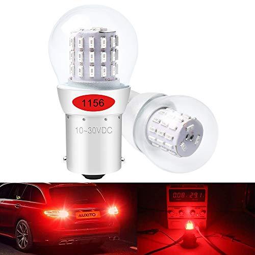 DEFVNSY - Paquete de 2 - Rojo P21W 1156 BA15S 1141 1003 7506 1073 Luz LED extremadamente brillante 3014 39 Bombillas de repuesto SMD para luz de freno trasera Luces de parada -10-30V DC