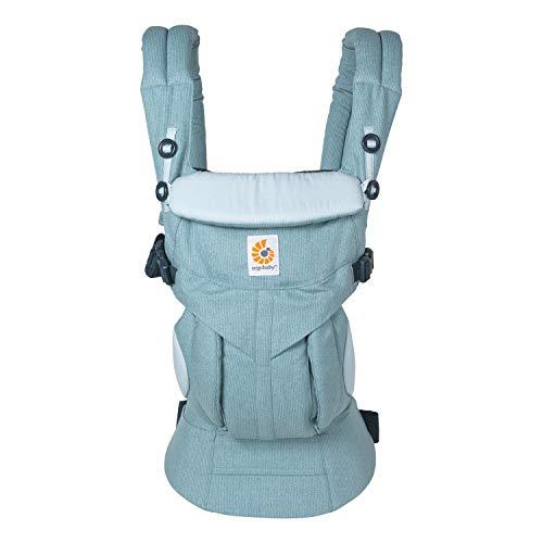 Ergobaby Omni 360 Babytrage für Neugeborene ab Geburt bis 20kg, 4in1 Kindertrage Tragesystem, Heritage Blue, BCS360HERBL
