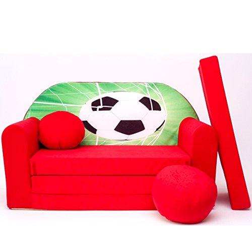 D3 + enfants Canapé ausklapp Bar Canapé-lit canapé Mini Basse 3 en 1 Ensemble pour bébé + Fauteuil pour enfant et coussin d'assise + matelas