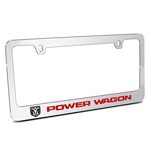 iPick Image for - RAM Power Wagon Mirror Chrome Metal License Plate Frame