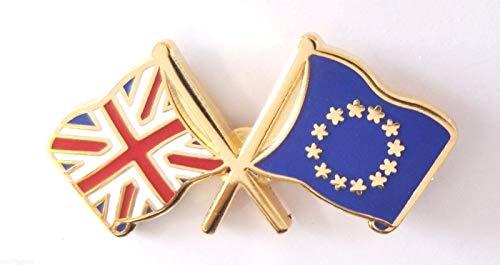 & UE UNION JACK DRAPEAU NATIONAL DE L'AMITIÉ DOUBLE-GIFTS ÉPINGLETTE ÉMAILLÉE