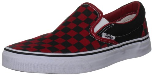 Vans U CLASSIC SLIP-ON BLK WHTCHCKERBO VEYEBWW, Unisex-Erwachsene Slipper, Black/Formula One Checkerboard, 35 EU