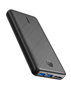 Anker Power Bank, PowerCore Essential 20000 Portable Charger with PowerIQ Technology and USB-C (Input Only), High-Capacity External Battery Compatible with iPhone, Samsung, Huawei, iPad, and More.