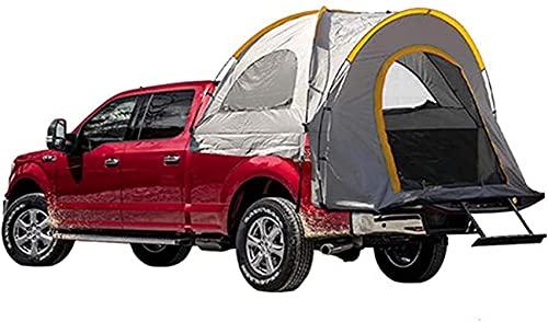 Carpa para camioneta pickup al aire libre Toldo 210D Tela Oxford Pu2000mm Carpa para campamento autónoma Carpa para cama de camión Gran espacio para acampar Pesca Carpa trasera para automóvil de viaje