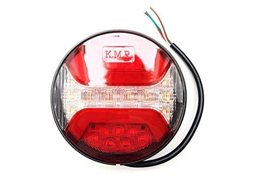 LED Rückleuchte Rund ⌀122 mit Bremslicht, Positionslicht, Blinker für Anhänger LKW PKW usw.