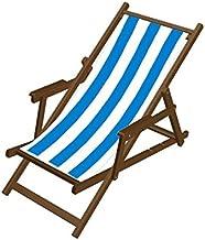 Edenjardi Tumbona reclinable de Exterior con Brazos 195x65x50 cm Tama/ño Aluminio Blanco y textilene taup/é