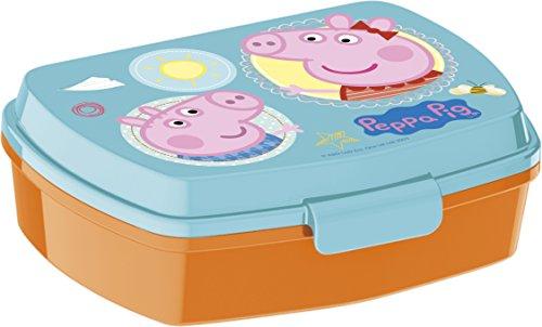 Peppa Pig 2054 Sandwichera Restangular Multicolor Core; Producto de plástico; Libre BPA;...