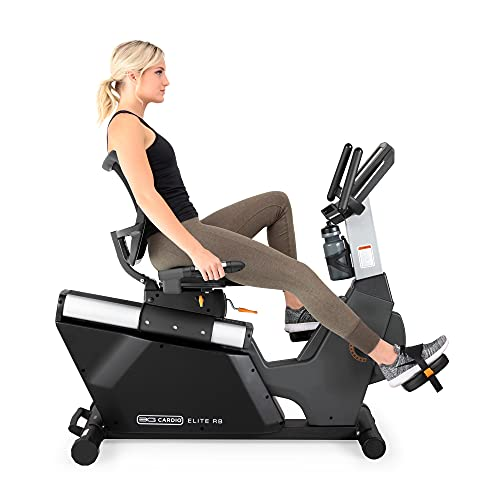 3G Cardio Elite RB Exercise Bike, Recumbent - Commercial Grade - Compact Footprint - Ultra Comfortable Seat - Magnetic Resistance - 350 LB User Capacity