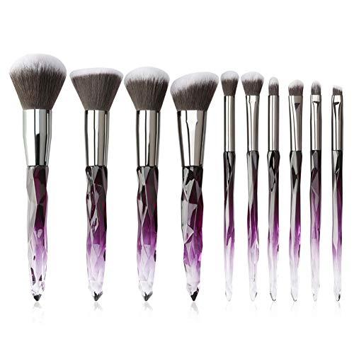 Maquillaje Cepillo Conjunto De 10 Piezas De Herramientas Para Principiantes Belleza Con Fundación Sombra De Ojos Cepillo De Cejas Pestañas Lip Brush,2