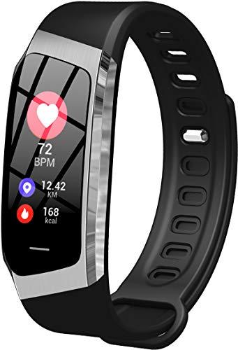 Findtime Unisex Fitness Tracker Digitaluhr Activitäts Armband Herzfrequenz Blutdruck Monitor Schrittzähler Quarz Silikon