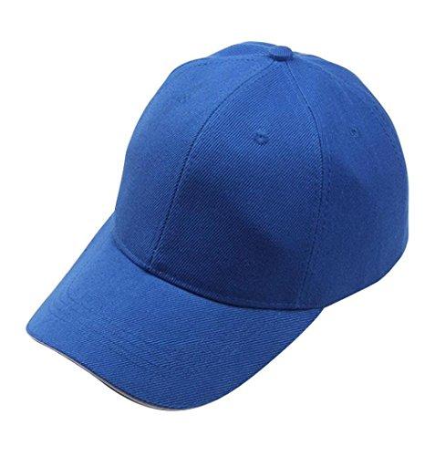 ZEZKT-Zubehör❤️Einfarbig Einfach Baseball Cap Hut Unisex Damen Herren Trucker Kappe Mesh Baseball Cap Snapback Schwarz Baseball Cap Snapback Hut (Blau)