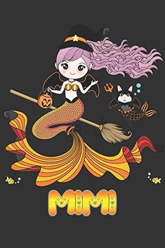 Mimi: Mimi Halloween Beautiful Mermaid Witch Want To Create An Emotional Moment For Mimi?, Show Mimi You Care With This Personal Custom Gift With Mimi's Very Own Planner Calendar Notebook Journal