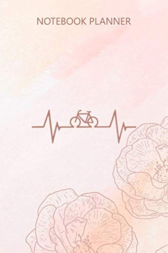 Notebook Planner Bike Heartbeat Bicycle Cycling Mountain bike: 114 Pages, Journal, Do...
