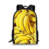 3D-Druck Obst und Gemüse Schuljungen y Kinder Rucksäcke Teenager Mädchen Alternative Schultaschen-plátano_44x28x13cm