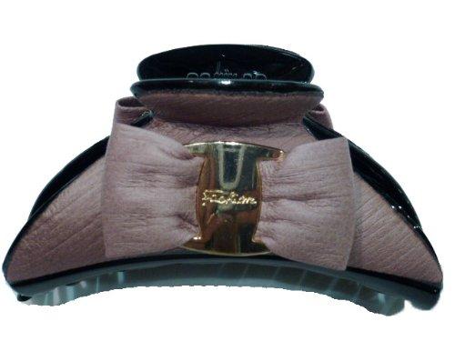 rougecaramel - Accessoires cheveux - Pince cheveux noeud grand modèle - vieux rose