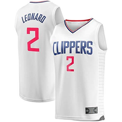 EUEU Camisetas de entrenamiento de baloncesto personalizadas Kawhi Clippers NO.2 LA Leonard Fast Break Player Jersey - Blanco - Edición Asociación