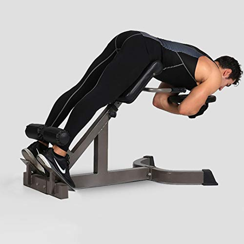 45 Degree Back Hyper Extension Bench/Roman chair Adjustable Height Trainer Back Machine for Young Fit Man Fitness Women doing Core Exercise at Home Gym