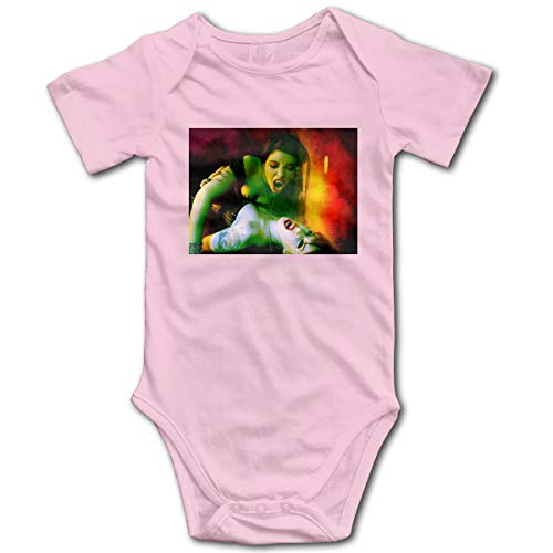 Vampire 3D Printed Personality Toddler Variety Organic Cotton Jumpsuit Baby Cool Short Sleeve Layette Unisex Multiple Size One-Piece Onesies,Bodysuits Pink