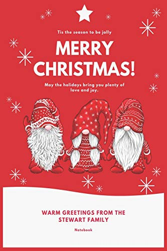 Merry Christmas Composition Notebook: 3 Nordic Airlab Christmas Gnome Swedish Tomte Cute Elves Journal/Notebook Blank Lined Ruled 6x9 110 Pages Matte Cover  &  Minimalist