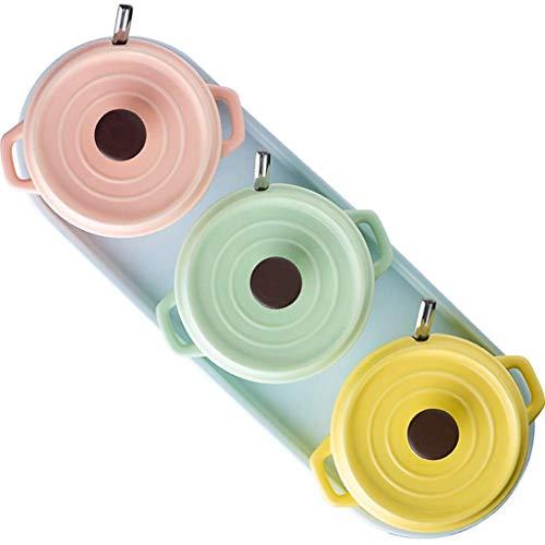SMEJS Porzellan Menage Glas Gewürzbehälter mit Deckel, Keramikschale - Topf for Ihr Zuhause, Küche