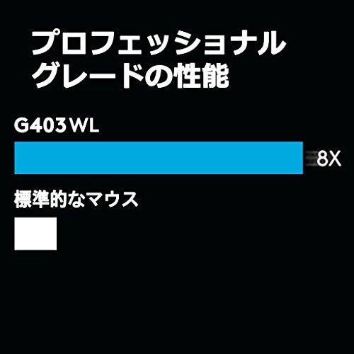 『【PUBG JAPAN SERIES 2018推奨ギア】LOGICOOL ロジクール G403 Prodigy ワイヤレスゲーミングマウス G403WL』の7枚目の画像