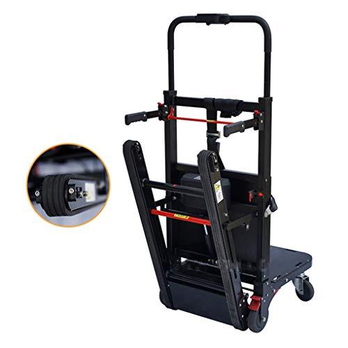 Carro eléctrico para subir escaleras, carretilla de mano de servicio pesado, utilizado principalmente en empresas de mudanzas, centros comerciales, hospitales, 160 kg de carga - Tercer ajuste de mar