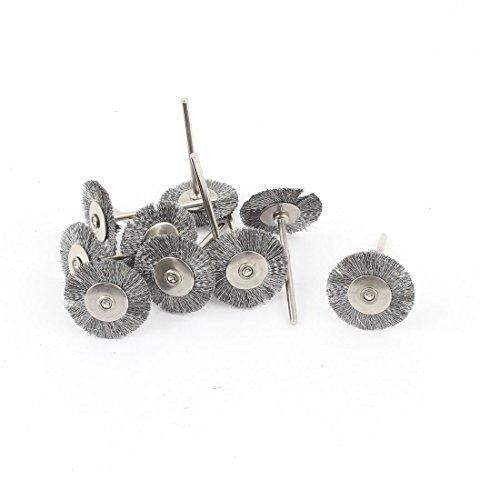 Aexit 2,3mm Industriebürsten Schaft 25mm Scheibenbürste Polieren Polieren Rotary Industriebürstensätze Werkzeug 11pcs