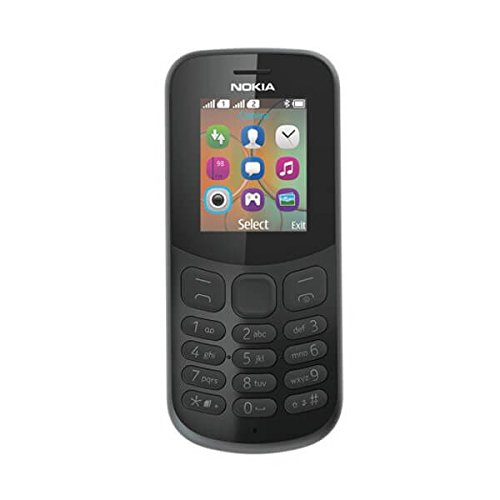 Nokia 130 Handy, schwarz, Schwarz, Dual SIM