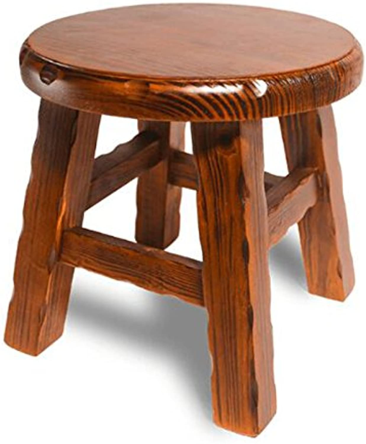 Solid Wood Small Round Stool Simple Small Stool Home Stool Fashion shoes Stool Small Wooden Stool -by TIANTA