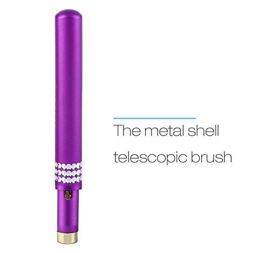 Lippenbürste, einziehbare Lippenbürste mit Kappe Tragbare Applikatoren Werkzeuge Lippenstift Lipgloss Make-up Pinsel Naturborsten Pinsel Beauty Tools für Frauen