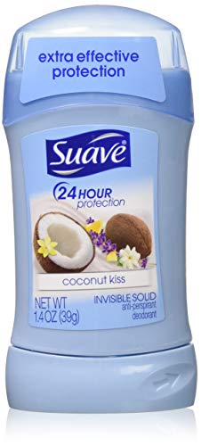 Suave Deodorant 1.4 Ounce 24Hr Coconut Kiss Invisible Solid (41ml) (3 Pack)