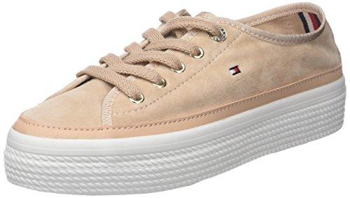 Tommy Hilfiger Damen Suede Flatform Sneaker, Pink (Dusty Rose 502), 40 EU