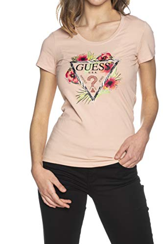 Guess Camiseta Rosa de Manga Corta con Flores para Mujer W1GI0NJ1311-G64O M