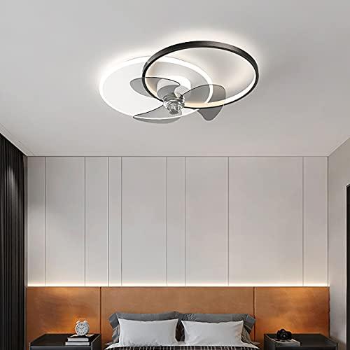 WRQING 48W Deckenventilator mit Beleuchtung Leise Fernbedienung Einstellbare Windgeschwindigkeit Dimmbare Deckenventilator Deckenleuchte Kinderzimmer Schlafzimmer Wohnzimmer Ventilator Lampe