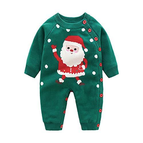 Neugeborenes Dickes Weihnachten Overall Gestrickten Pullover Christmas Strampler...