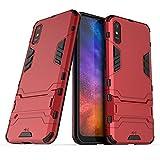 Anti-Schock Hülle für Xiaomi Redmi 9A / Redmi 9AT Standfunktion Kratzfeste Handyhülle Stoßfeste Doppelschichter Schutzhülle Bumper Hülle Cover Shock Absorption (Xiaomi Redmi 9A / Redmi 9AT, Rot)