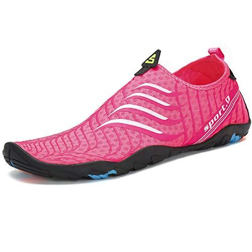 slam scarpe SAGUARO Scarpe da Scoglio Donna Uomo Scarpe da Spiaggia Scarpette da Surf Immersione Water Shoes per Mare e Sport Acquatici