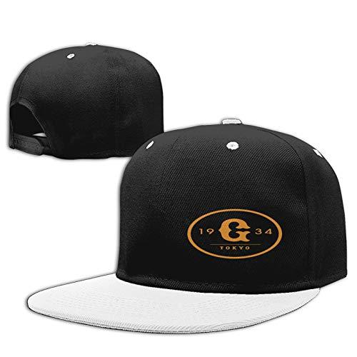 Jiso-Bag コントラスト ヒップホップ ベースボール キャップ 東京ジャイアンツ野球 White 帽子 野球帽 平つば 硬つば 長つば スナップボタン メンズ