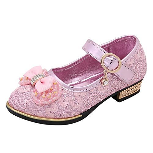 Sandalen Mädchen Mit Absatz Für Hochzeit Party Elegant Schuhe Mädchen Geschlossen Kinderschuhen