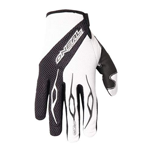 O'Neal Element Glove Handschuhe Schwarz Weiß Moto cross Enduro Downhill Mountain Bike MTB DH, 0398-20, Größe Large