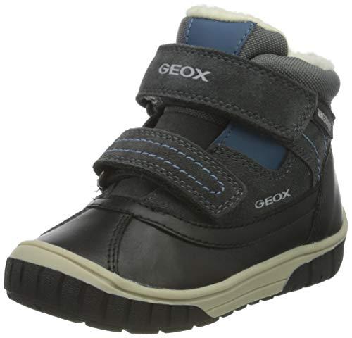 Geox Baby-Jungen B OMAR Boy WPF B Ankle Boot, Grey (Dk Grey/Azure), 24 EU