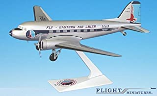 Eastern DC-3 Airplane Miniature Model Plastic Snap-Fit 1:200 Part# ADC-00300C-006