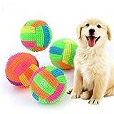 LED Voleibol intermitente luz que cambia de color Bouncing erizo pelota perro juguetes