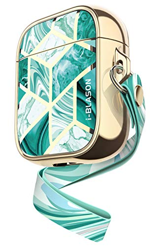 i-Blason Cosmo Series Case Designed for Airpods, 360° Protective Stylish AirPods Case Cover Compatiable with Apple AirPods 1st/2nd (Jade)