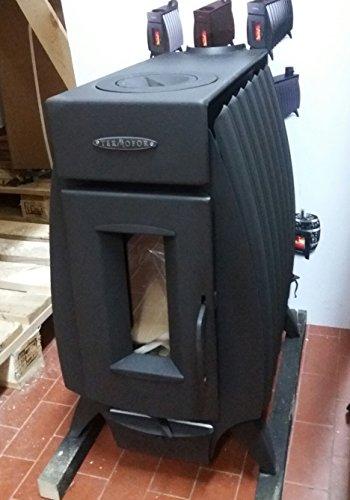 Estufa de leña Battery Fire 10 KW antracita