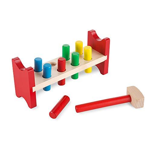 Melissa & Doug Pound-a-Peg Classic Toy – Bancs à Marteler (Import Royaume Uni)