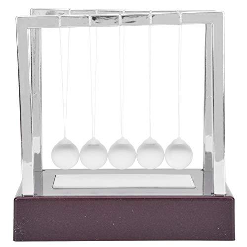 casualittier Juguete de péndulo Juguete de Bolas equilibradas no tóxicas para Accesorios del hogar para decoración de Estudio para Regalos(Newton Ball Medium Fuchsia Base)